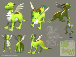 Maccha Dragon Visual Sheet by MoriGuru