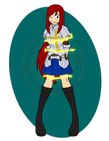 Erza Captured by Dragon-FangX