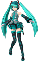 Project Diva Arcade Future Tone Fei Yen Miku by Luke-Flame