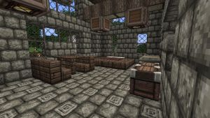Minecraft - inside of a medieval house by CyberMiez
