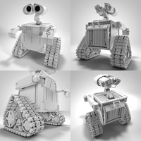 Wall-E - Cinema 4D Clay Render by Exherion