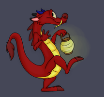 Mushu by FossilizedToons