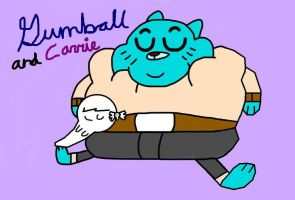 Gumball and Carrie by MigsGarcia5127