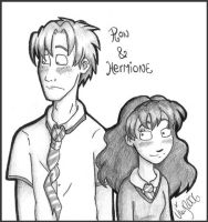 Ron and Hermione by Shmivv