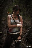 Lara Croft - Wounded by CrystalPanda