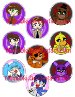 Random Fandom buttons batch 3 by NamiOki