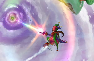 Orbital Rainbow Strike by Suweeka