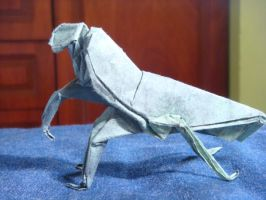 Origami Praying Mantis by silent-anton123