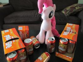 Pinkie Pie likes orange soda by Template93