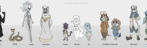 Line of characters by KetrinPetterson94