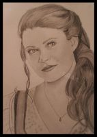Belle in OUAT (promo photo) by RoseRedArt