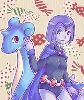 Raven and Lapras by Southrobin