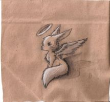 Rabbit.. With wings and such by UuberFuuzeFellen