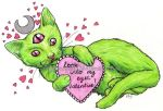 Hypnotic Valentines Kitty by witchhboy