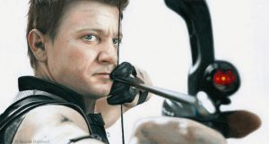 Hawkeye (drawing) by Quelchii