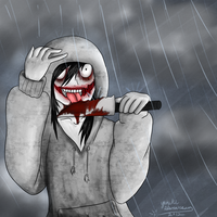 Jeff in the rain by yunikistardream
