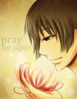 Pray for Japan by oTEMARINo