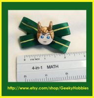 Loki Hair Bow by Sugar-Bolt