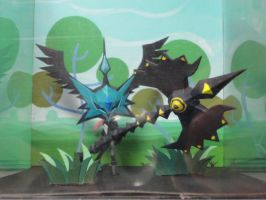 Patapon diorama papercraft by BRSpidey