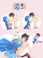 Little Blue Riding Hood AU - Gruvia by colored-sky