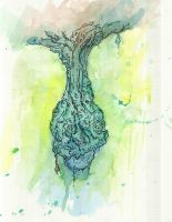 Rebirth Watercolor by SanguineEpitaph