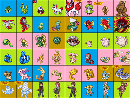 Pokemon and Fakemon sprites (private use) by blazt01
