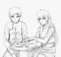 Kira and Gaara by DaiKai