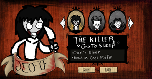 Don't starve-Jeff the killer by tooncooro
