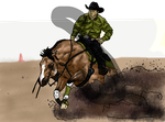 Ride and Slide - WIP - PD Reining by Starcather9