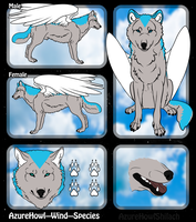 Wind wolf species - AzureHowl by AzureHowlShilach
