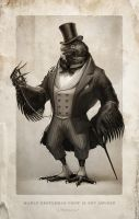 Gentleman Crow by Fleurdelyse