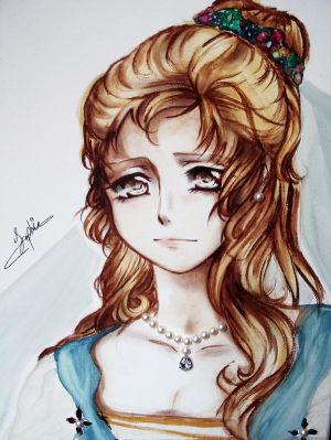 Princess, Original watercolor