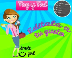 Smile girl Png y PSD by Karencii7a