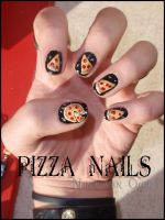 Pizza nails by Ninails
