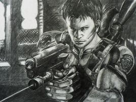 RE5: Chris Redfield by Ashe-Kai