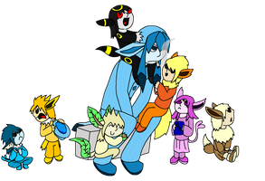 Alto the Glaceon's Family by stich76