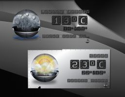 Metal Sphere Weather for xwidget by jimking