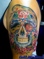 Cory's sugar skull -completed by EvilLittleBlue