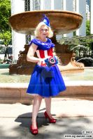 Avengers Evening Gown: Captain America Bryant Park by BenaeQuee