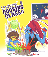Undertale - Undyne's cooking class by marryhunt