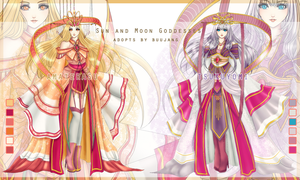 [CLOSED] Sun and Moon Goddesses Adopt by Buujang