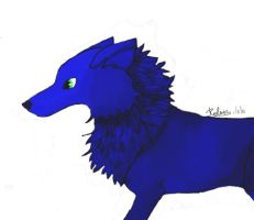 First Corel Painter artwork and WOlf by Hiyomi-chan