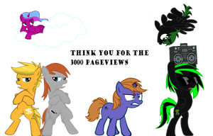 Yay 3000 Pageviews  by MLP-Scribbles