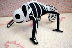 Skeleton Chameleon 2012 #2 by quirkandbramble