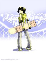 Xiao and her Skateboard :3 by kicky