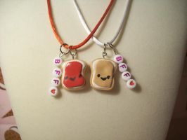 Peanut Butter Jelly Necklaces by lessthan3chrissy