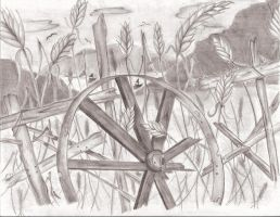 Wagon Wheel By The Sea by 0CrescentMoon0
