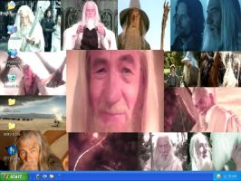 Gandalf Collage Desktop by drumgirl