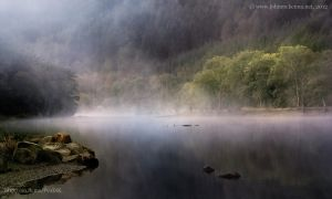 pre-dawn, Loch Lubnaig, Scotland by Johnmckenna