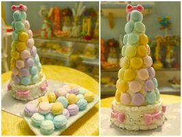 Rainbow Macaron tower 1/6 scale by LittlestSweetShop